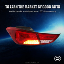Factory Auto Parts Modified LED Hyundai Avante led Tail lights with 12-14 Year red Running+Brake+Reverse+Turning Light LED Lamp