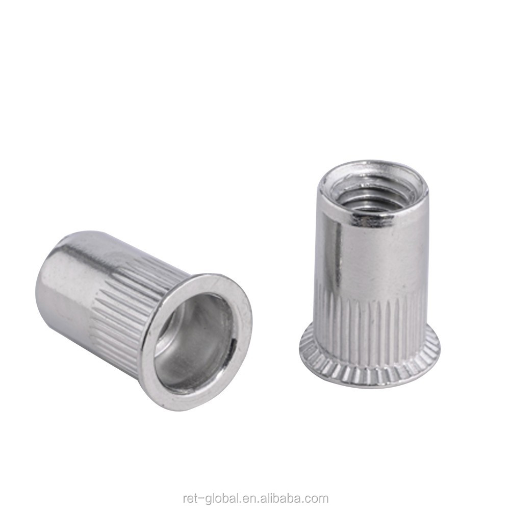 m6 countersunk head knurled body 304 stainless blind rivet nut