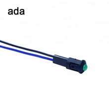 8mm Dia. A-12-3 black metal led indicator lamps panel mount 3v with wire