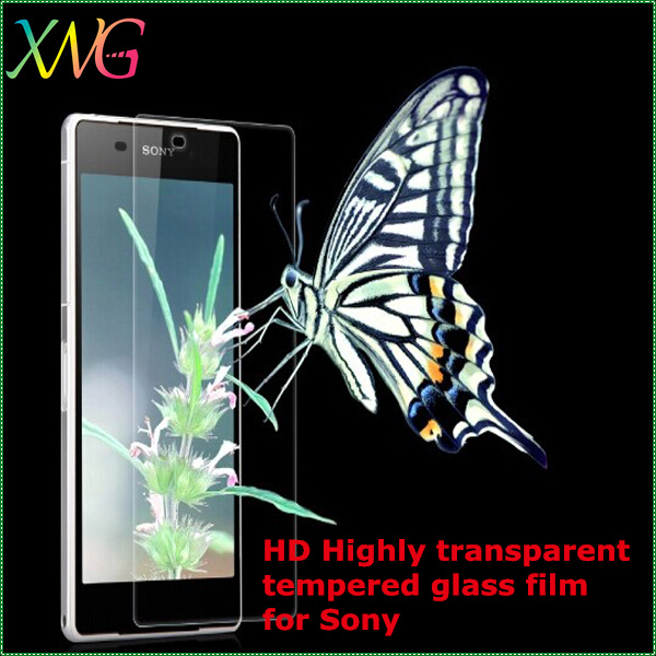HD high transparency touch screen toughened glass film for sony ULTRA 6.4,Best quality, factory price!