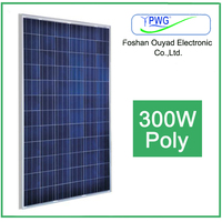 Hot sale high efficiency 300 Watt PV solar panel manufacturers in China