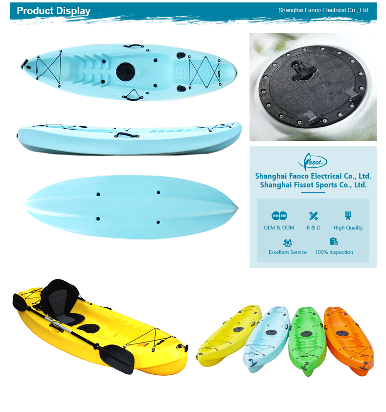 OEM customized roto molded plastic kayak, kayak sale, canoe fishing