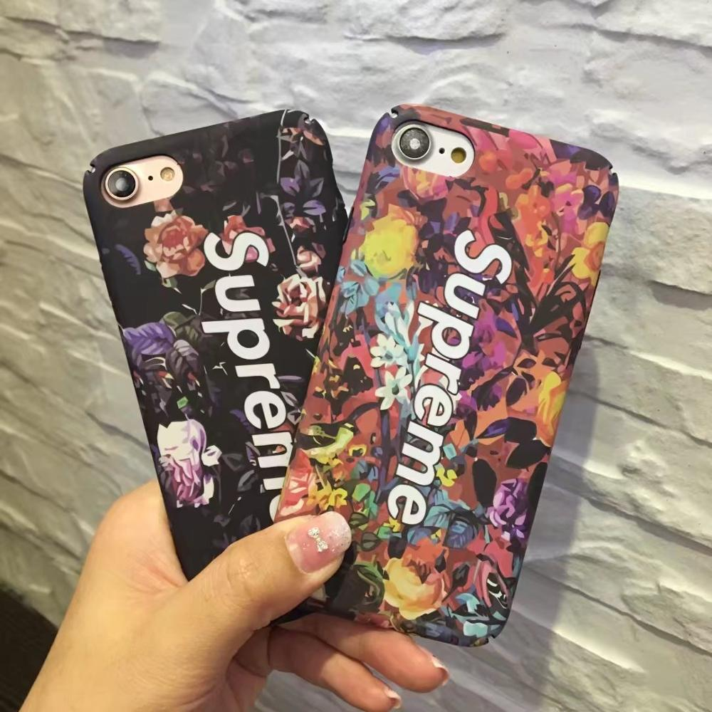 Hot Selling Retro Art Oil Painting Phone Case for iPhone 7 Plus 7 6 6S 6 Plus back cover Flowers Supreme Case