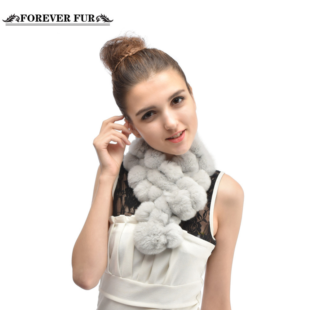 Winter Warm Natural Rex Rabbit Fur Scarf Winter Fur Wraps Ring Scarves 2015 Hot Fur Scarves Collar For Lady