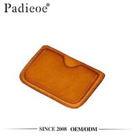 Padieoe PDA446-S low MOQ veg-tanned leather slim card wallet