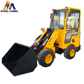 Telescopic articulated loader with driver at back