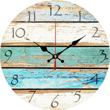 Colorful Ocean decorative wall clock Design Vintage Wood Wall Clock