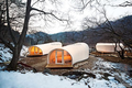 field camp tents with kitchen and bathroom meet different people's needs