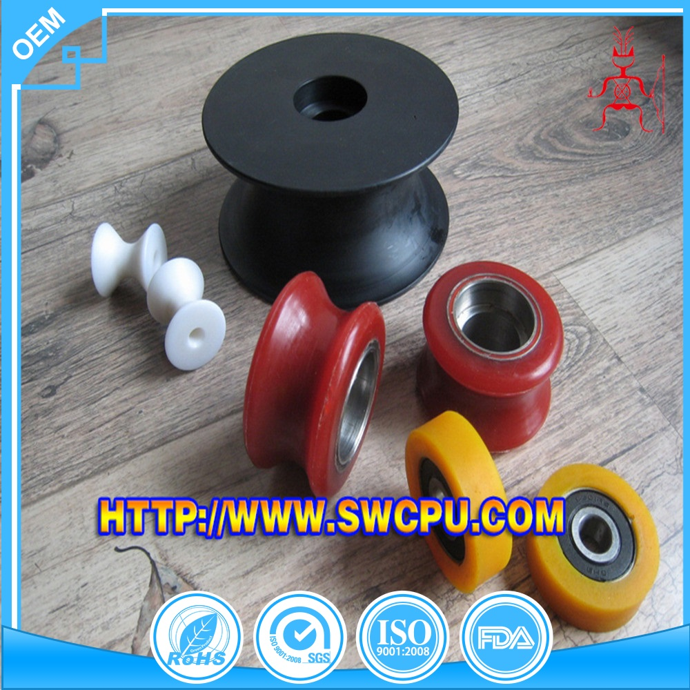 Custom make polyurethane rollers with bearings