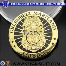 Hot sale cheap gold plated old challenge coins with soft enamel
