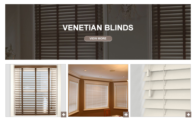 2018 hot selling wooden venetian blinds for sliding glass doors rideau stores en bambou louvre automatic ready made timber blind