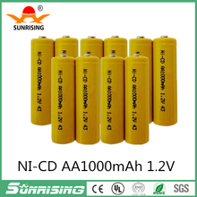 1.2V AA Ni-Cd Battery 1.2Volt 1000mAh 2A NiCd Rechargeable Industrial Batteries For Button top