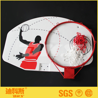 DKS Door Basketball Ring and Board Size