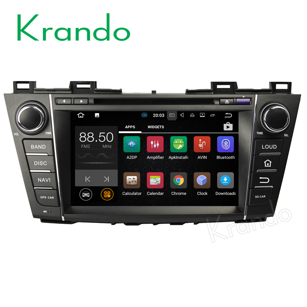 Krando Android 7.1 8'' touch screen car radio player for Mazda 5/Premacy 2009-2012 multimedia system WIFI 4G LTE 2G RAM KD-MZ39