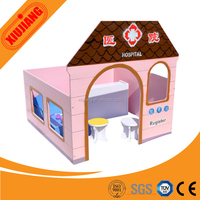 factory wholesale indoor wooden playground toy doll house for kids