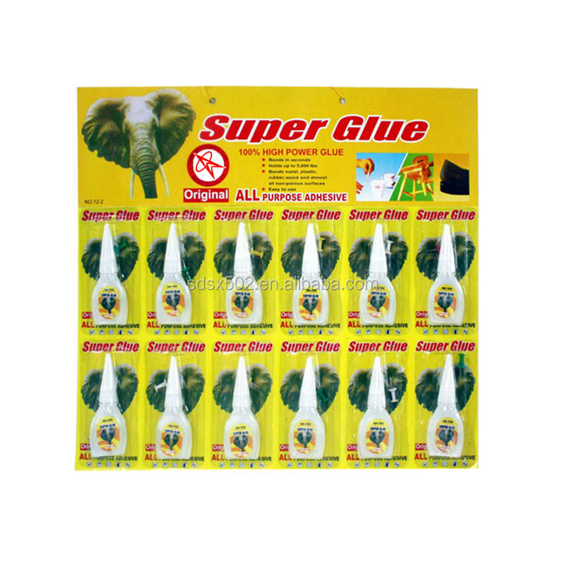 Professional factory direct Bottle Super Glue 3g 502 Adhesive Bond 12pcs Blister Packing Card Glue