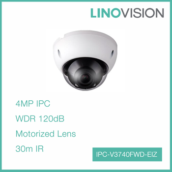 New product Vandal-proof POE H.264+ Motorized 4MP Dome Network Camera