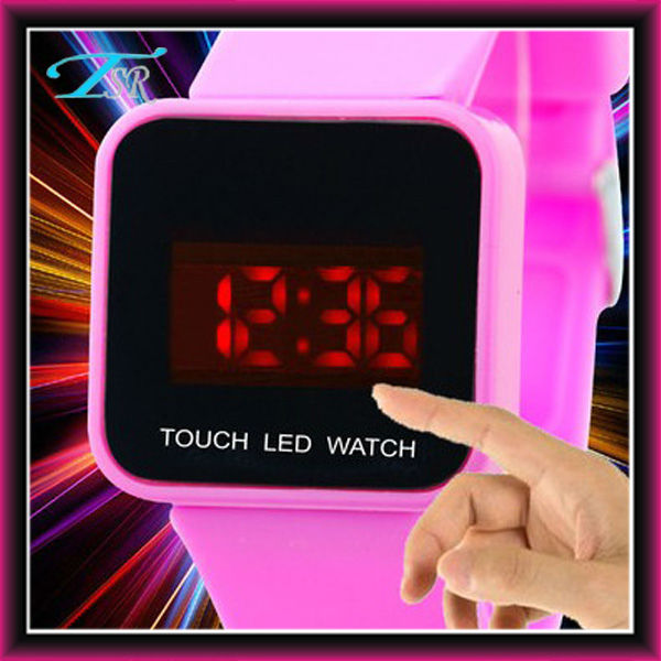 Pink color Cool PC21 movt CE and RoHS led watches for men popular in USA NEW STYLE can print customer logo auto date