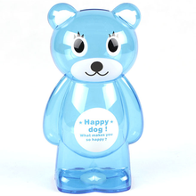 Promotional kids plastic bear coin bank