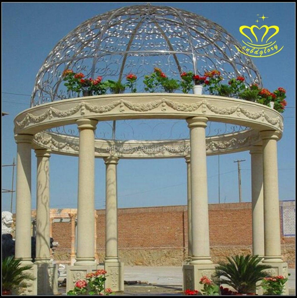 Luxury outdoor large gazebo Marble pavilion for sale