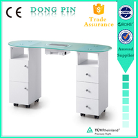 top quality furniture factory salon furniture double nail table
