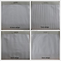 100% cotton satin stripe fabric hotel bed linen bedding sheet