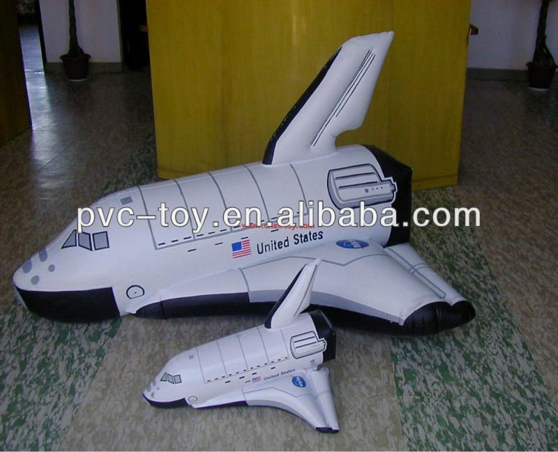 pvc inflatable space shuttle airplane