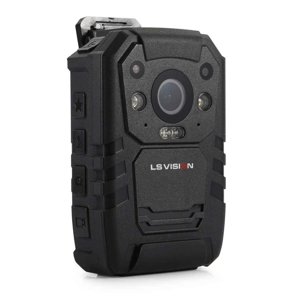 LS VISION Ambarella A7 Chipset With GPS Face Detection 11 Hours Video Recording 32GB Body Worn Camera