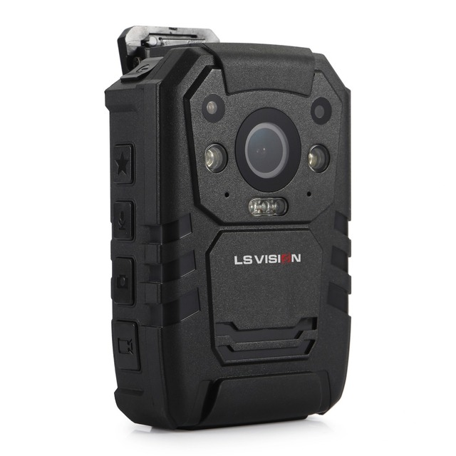 LSVISION Ambarella A7 Chipset With GPS Face Detection 11 Hours Video Recording 32GB Body Worn Camera