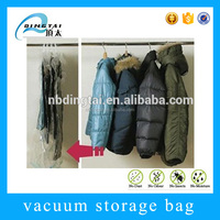 Clothing storage folding hanging smart bag vacuum plastic bags