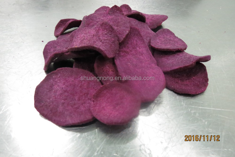 VF purple sweet potato chips Vacuum fried purple sweet potato snack