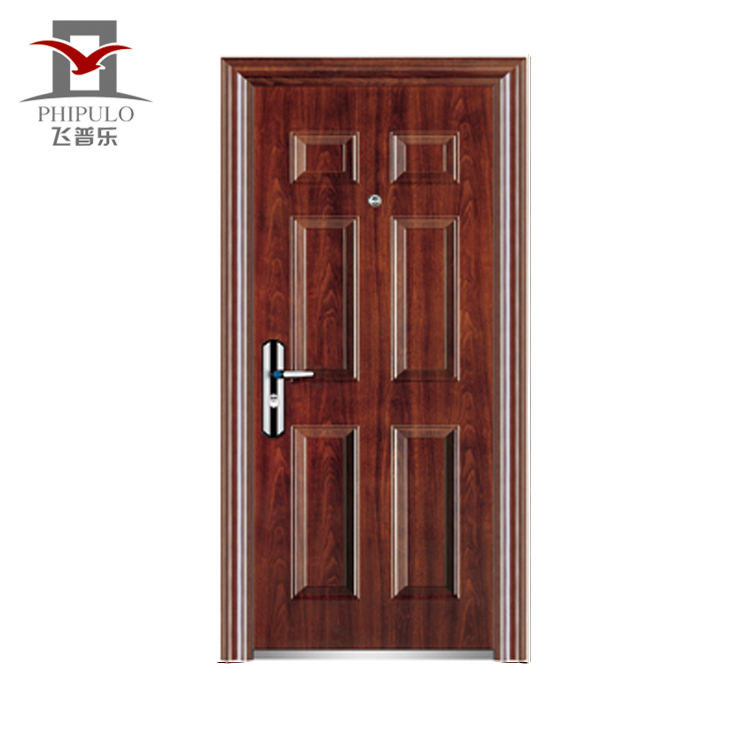 Good price powder coated entry safety steel room <strong>door</strong> design