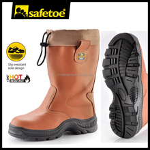 Steel toe cap high temperature resistant heated work boots
