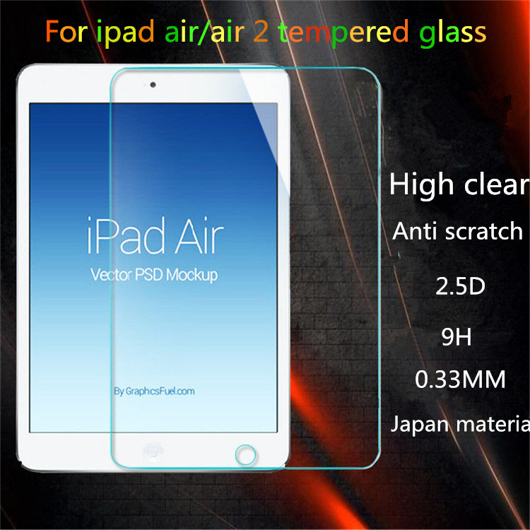 9H High Clear 0.2mm Ultra Thin 2.5D Round Edge Anti Blue Light tempered glass Screen Protector For Ipad AIR 2