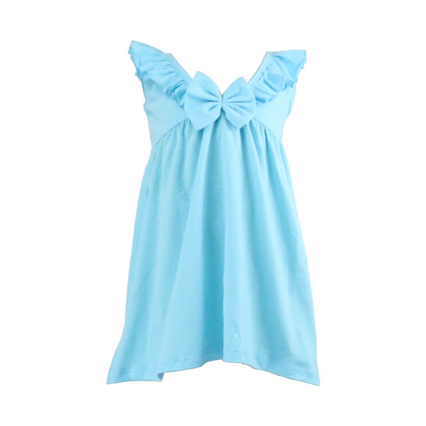 Red /White/ Blue color bow tie newborn baby dress summer 2017 girls knit dresses wholesale