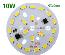 56mm 10W AC led pcb board, driverless LED replacement PCB Board, retrofit LED Board for bulb/ceiling light fixture