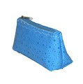 Hot Sale Blue PVC Faux Leather Cosmetic Bag