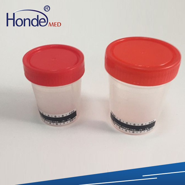 PP 100ml urine cup with thermometer strip
