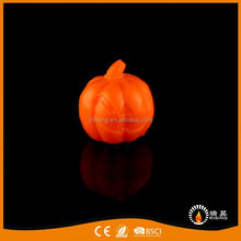 Europe style practical halloween led candle pumpkin paraffin wax fancy candle pumpkin