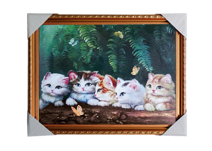 3D natural photos 3d animal picture with frame 3d wild life wall paper for sale