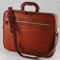 "ADALLB - 0034 Universal Leather Executive Case For Laptop Bag / Solo Classic 16"" Laptop Portfolio"