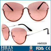 2017 hot sell rimless sunglasses for women