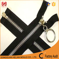 8# metal zips with plating silver chain for luggage & valise