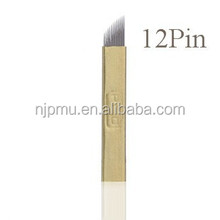 Whosale microblading needle eyebrow embroidery blade for manual permanent makeup