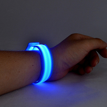 Led glowing bracelet, High bright led wrist band, Flash bangles for party themes