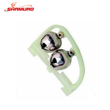 Weihai Wholesale Fishing tackle Double Bells for Bit Alarm Night Fishing Rod Bell with Luminous Glow Light Holder