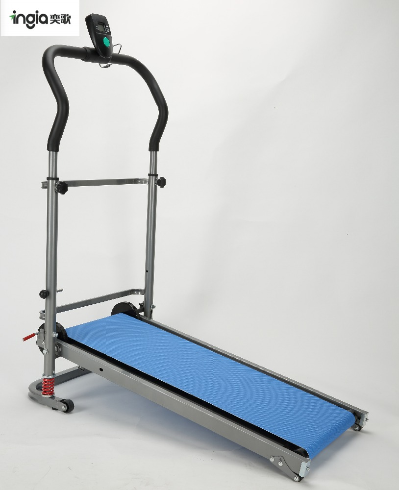 <strong>Fitness</strong> Running Machine Manual Treadmill Portable Foldable Treadmill