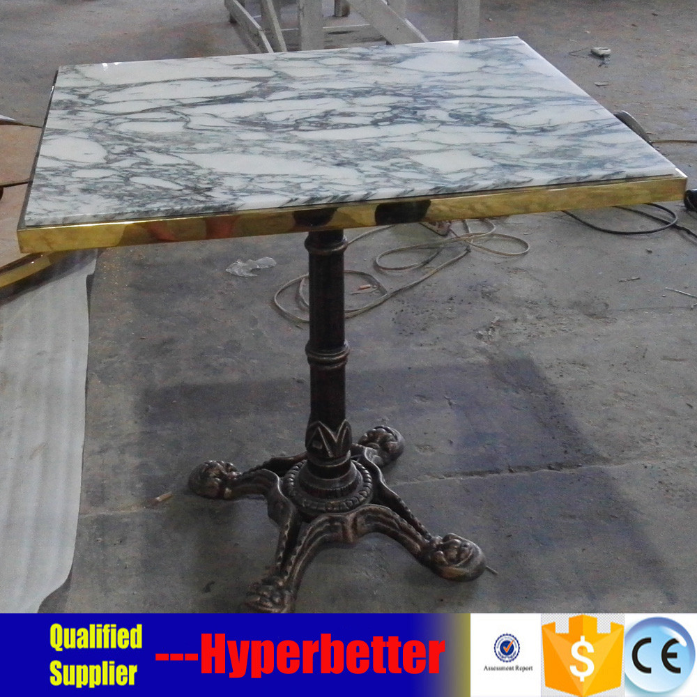 Arabescato Corchia marble top table  with copper table legs 2.jpg