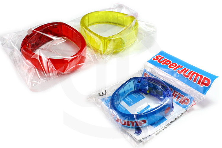 Party Supply Logo Printed Colorful Led Bracelet for Festival Decoration