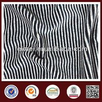 China gold knit fabric manufacture, black and white striped fleece fabric with new design